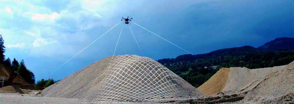 I droni sempre piu' spesso sostituiscono l'uomo o lo aiutano, semplificando complicate lavorazioni in campo edile.